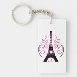 Eiffel Tower Gradient Swirl Design Keychain