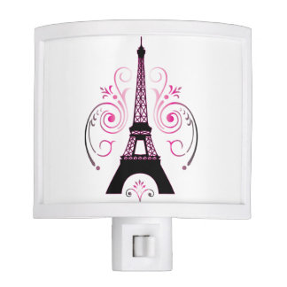 Eiffel Tower Gradient Swirl Design Night Light