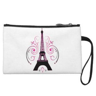Eiffel Tower Gradient Swirl Design Wristlet