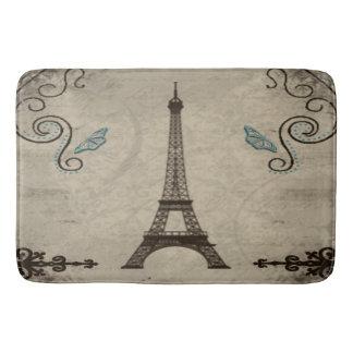 Eiffel Tower Grunge Bath Mat Bath Mats