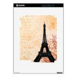 Eiffel Tower Grunge eReader iPad 2 Skins