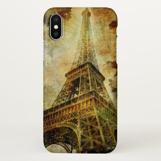 Eiffel Tower Grunge Zazzle iPhone X Case
