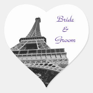 Eiffel Tower Heart Shaped Sticker