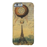 Eiffel Tower Hot Air Balloon Steampunk Barely There iPhone 6 Case