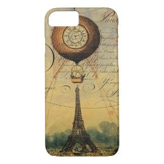 Eiffel Tower Hot Air Balloon Steampunk iPhone 7 Case