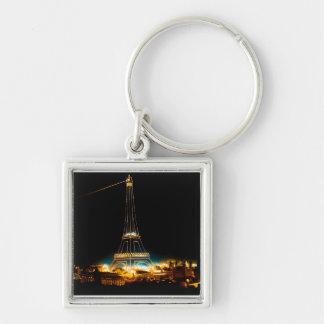 Eiffel Tower illuminated at 1900 Paris Exposition Keychain