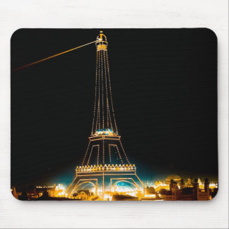 Eiffel Tower illuminated at 1900 Paris Exposition Mouse Pad