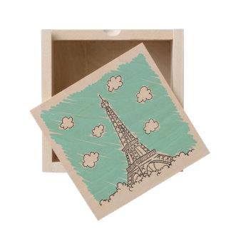 Eiffel Tower Illustration gift box