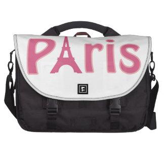 Eiffel Tower Image Laptop Bags