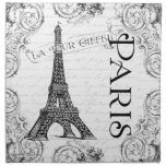 Eiffel Tower in Black and White Cloth Napkin