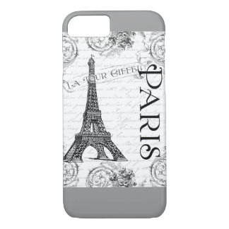 Eiffel Tower in Black and White iPhone 7 Case