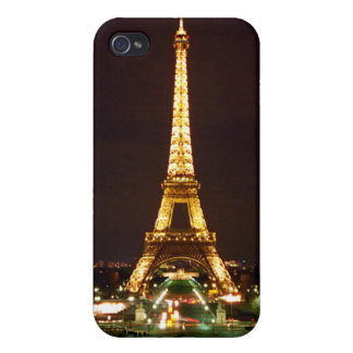 Eiffel Tower in color Case For iPhone 4