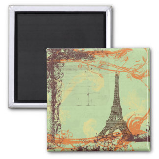Eiffel Tower in Green Magnet