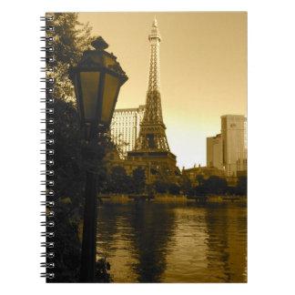 Eiffel Tower in Las Vegas Spiral Note Book