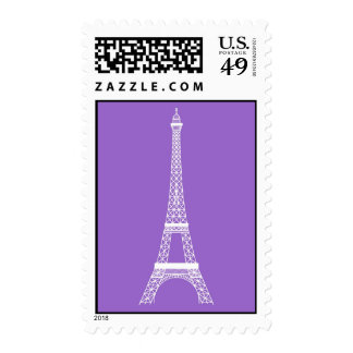 Eiffel Tower in Lavender Elegant Postage