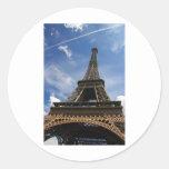 Eiffel tower in Paris Classic Round Sticker