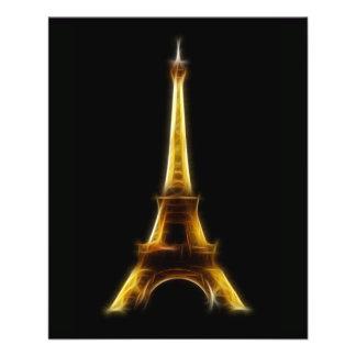 "Eiffel Tower in Paris France 4.5"" X 5.6"" Flyer"
