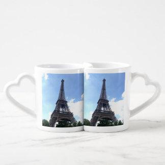 Eiffel Tower in Paris Lovers Mug Sets