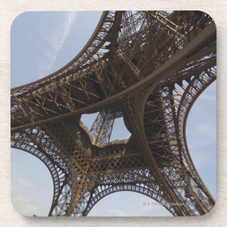 Eiffel Tower in Paris, low angle view Beverage Coaster