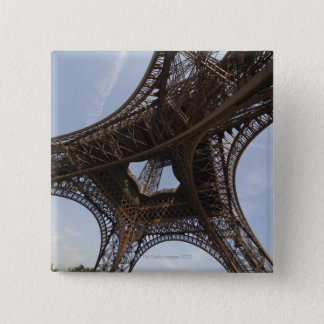 Eiffel Tower in Paris, low angle view Pinback Button