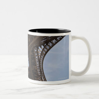 Eiffel Tower in Paris, low angle view Two-Tone Coffee Mug