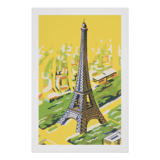 Eiffel tower in Paris Poster