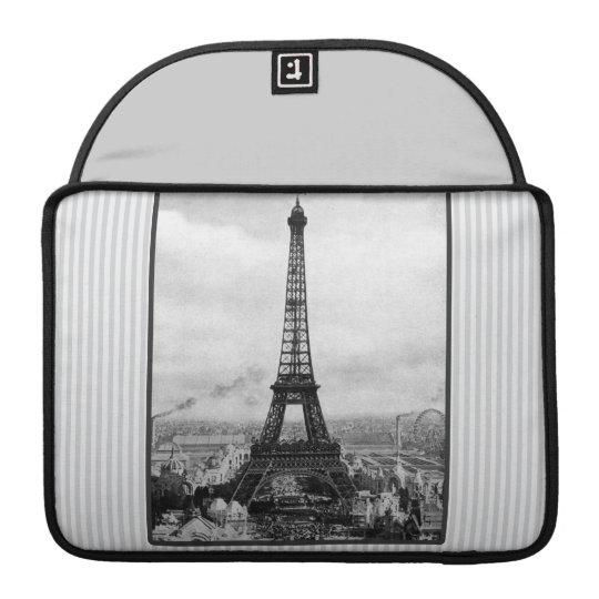 Eiffel Tower In Paris Striped Vintage MacBook Pro Sleeve