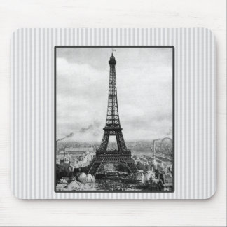 Eiffel Tower In Paris Striped Vintage Mouse Pad