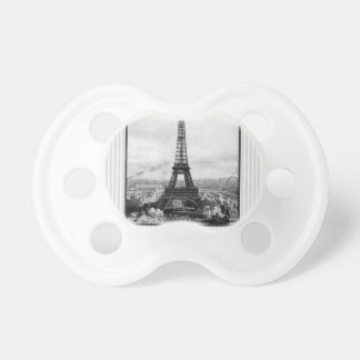 Eiffel Tower In Paris Striped Vintage BooginHead Pacifier