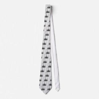 Eiffel Tower In Paris Striped Vintage Tie