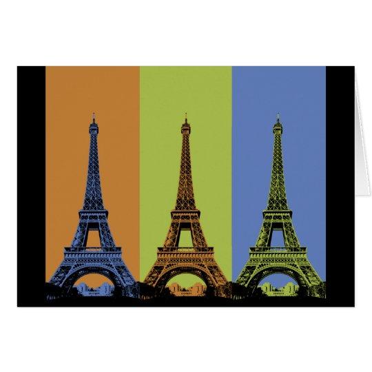 Eiffel Tower in Paris Triptych Card