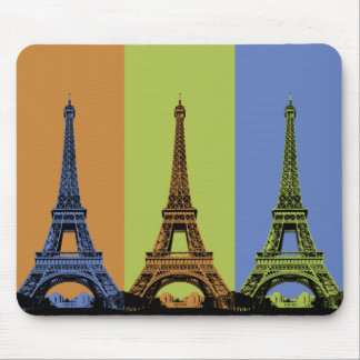 Eiffel Tower in Paris Triptych Mouse Pad