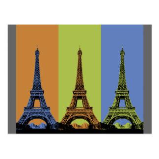 Eiffel Tower in Paris Triptych Postcard