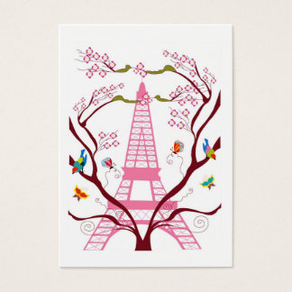 Eiffel tower in spring business card