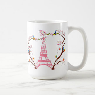 Eiffel tower in spring mug