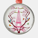 Eiffel tower in spring ornament