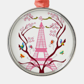 Eiffel tower in spring ornament