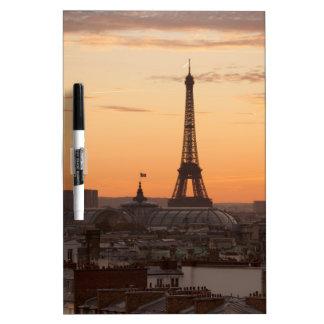 Eiffel Tower in sunset, Paris, France Dry-Erase Board
