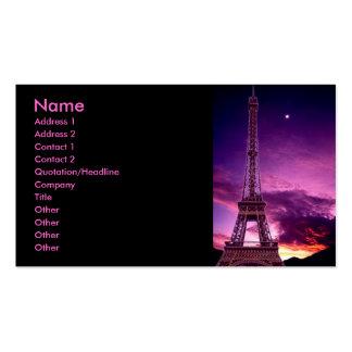 Eiffel Tower In Sunshine Profile Card Business Card