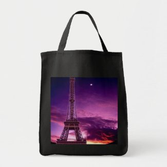 Eiffel Tower In Sunshine Sky bag