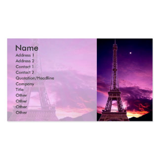 Eiffel Tower In Sunshine Sky Business Card