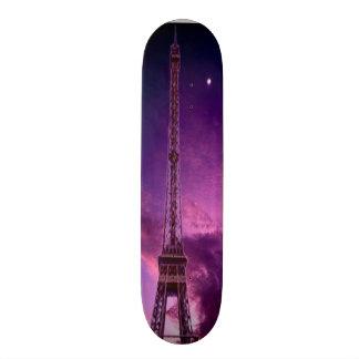 Eiffel Tower in sunshine sky Custom Skate Board