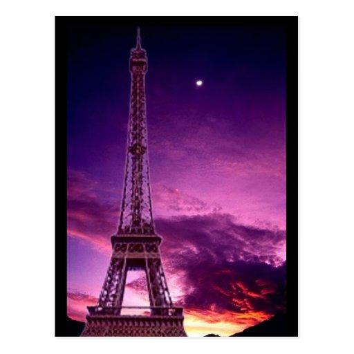 Eiffel Tower in Sunshine Sky Postcard