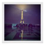 Eiffel Tower in the Rain, Paris 2014 Poster