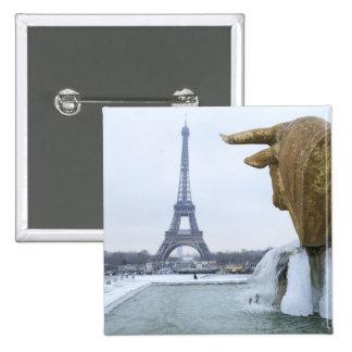 Eiffel tower in winter 2 button