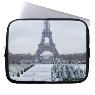 Eiffel tower in winter 3 computer sleeves