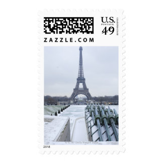Eiffel tower in winter 3 stamps