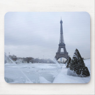 Eiffel tower in winter mouse pad