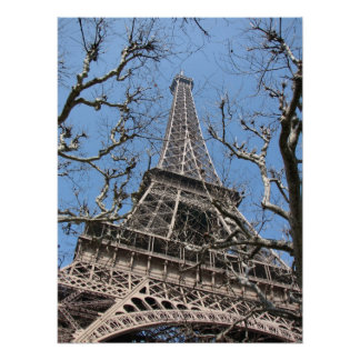 Eiffel Tower in  Winter Poster