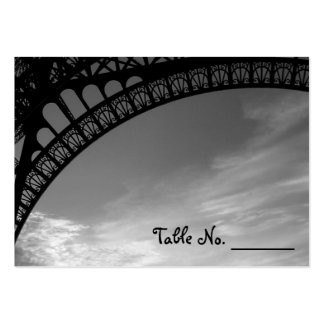 Eiffel Tower Individual Wedding Table Number Cards Business Cards